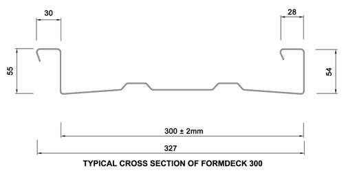 Formdeck FD300 Composite Structural Steel Formwork System - Formdeck Australia
